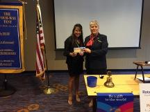 District Gov. Billi J. Black recognizes Rosa Ivey on Tuesday, July 20, 2015.